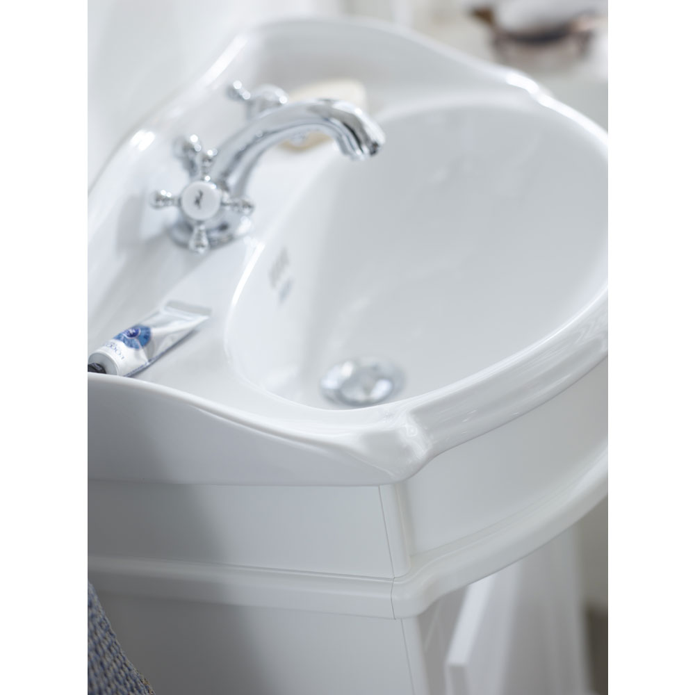 Miller - Traditional 1903 50 Single Door Vanity Unit with Ceramic Basin Feature Large Image