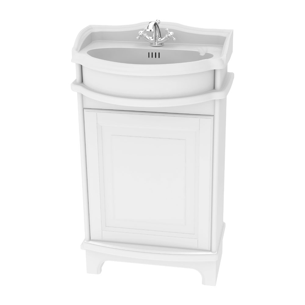 Miller - Traditional 1903 50 Single Door Vanity Unit with Ceramic Basin profile large image view 1