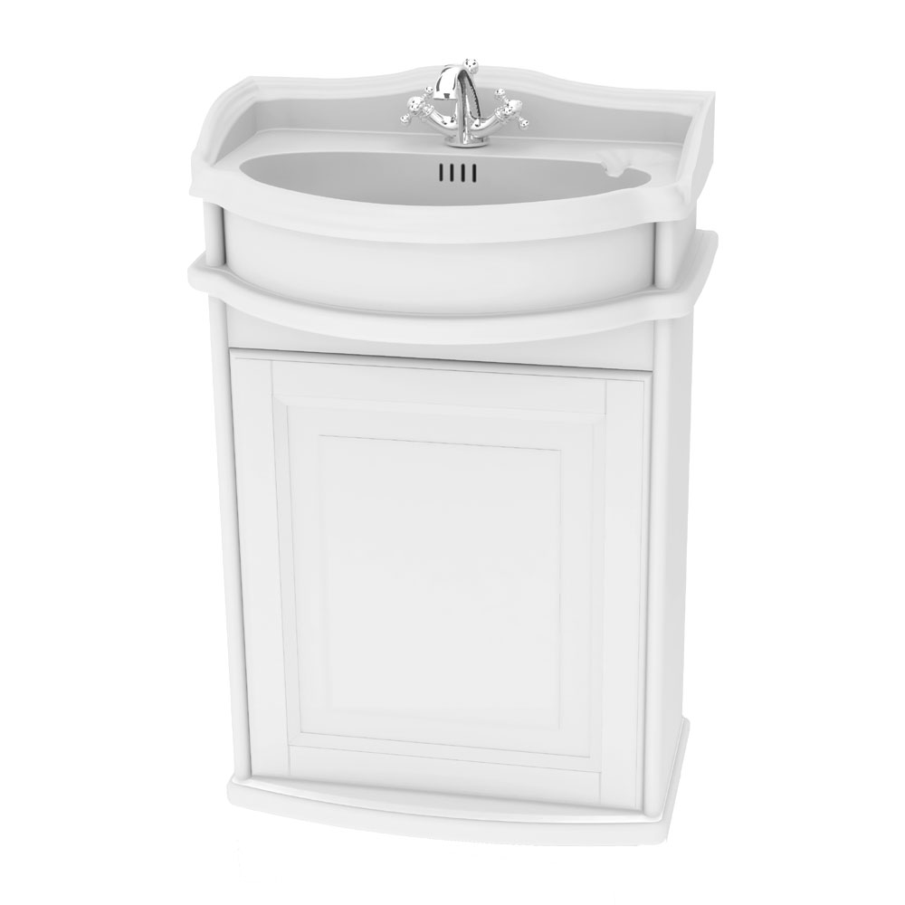 Miller - Traditional 1903 50 Single Door Wall Hung Vanity Unit with Ceramic Basin Large Image