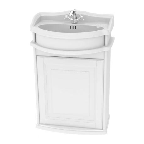 Miller - Traditional 1903 50 Single Door Wall Hung Vanity Unit with Ceramic Basin