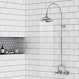 Keswick Traditional Exposed Manual Mixer Shower with Arching Shower Riser Kit