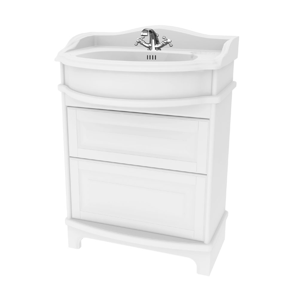 Miller - Traditional 1903 65 Two Drawer Vanity Unit with Ceramic Basin profile large image view 1