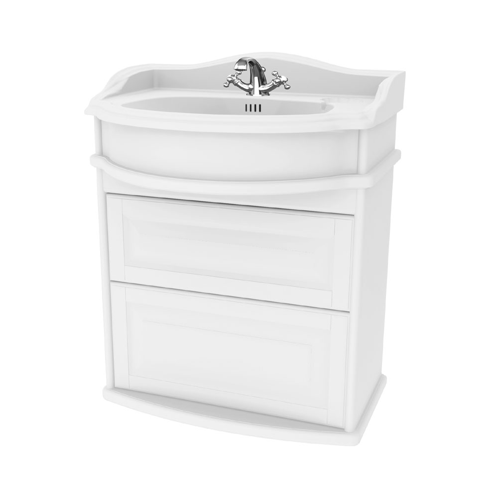 Miller - Traditional 1903 65 Wall Hung Two Drawer Vanity Unit with Ceramic Basin Large Image