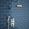 Trafalgar Traditional Triple Thermostatic Shower Package with Head + Handset Small Image