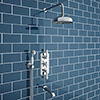 Trafalgar Traditional Shower Package with Fixed Head, Handset + Bath Spout profile small image view 1