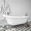 Oxford 1710 Roll Top Slipper Bath profile small image view 1