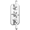 Trafalgar Traditional Triple Concealed Thermostatic Shower Valve with Diverter profile small image view 1