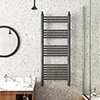 Keswick Anthracite Traditional 500 x 1200mm Heated Towel Rail profile small image view 1