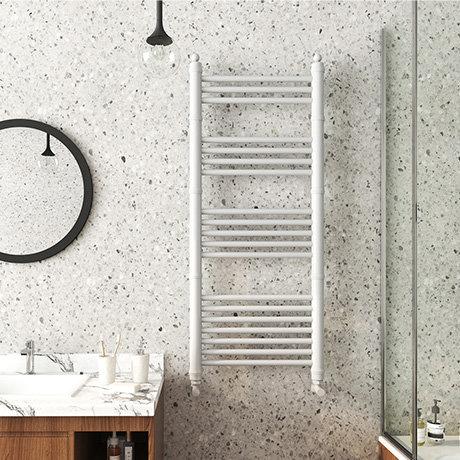 Keswick White Traditional 500 x 1200mm Heated Towel Rail