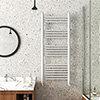 Keswick White Traditional 500 x 1200mm Heated Towel Rail profile small image view 1