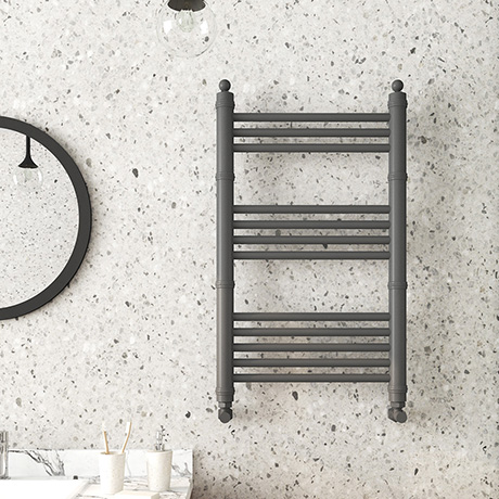 Keswick Anthracite Traditional 500 x 800mm Heated Towel Rail