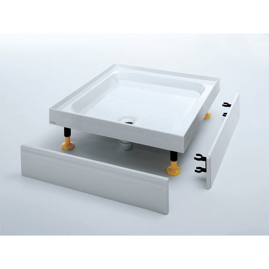 Coram Rectangular Shower Tray with Upstands & Waste - Various Size Options profile large image view 3