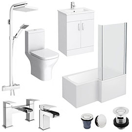 Toreno L-Shaped 1500 Complete Bathroom Package