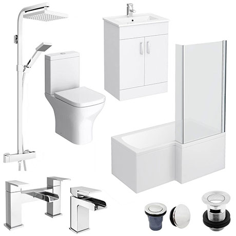Turin L-Shaped 1500 Complete Bathroom Package