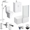 Turin L-Shaped 1500 Complete Bathroom Package profile small image view 1