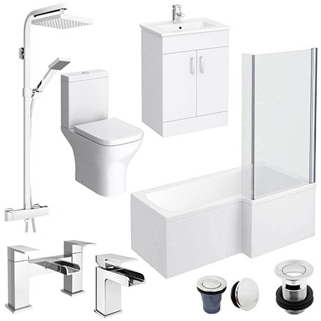 Turin L-Shaped 1600 Complete Bathroom Package