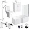 Turin L-Shaped 1600 Complete Bathroom Package profile small image view 1
