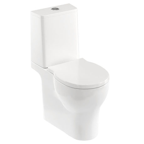 Britton Bathrooms Trim Close Coupled Toilet + Soft Close Seat