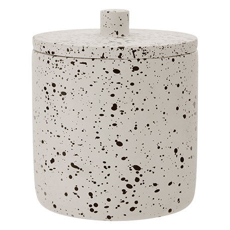 Turin Concrete Cotton Jar with Lid