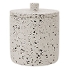 Turin Concrete Cotton Jar with Lid profile small image view 1