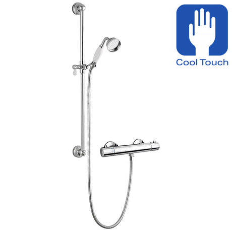 Traditional Cool Touch Shower Bar Valve + Slider Rail Kit