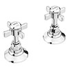 "Chatsworth Traditional 3/4"" Deck Bath Side Valves (Pair) profile small image view 1"