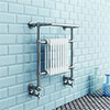 Marsden Traditional 740 x 675mm Wall Hung Towel Rail Radiator profile small image view 1