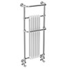Dartford Traditional Wall Hung Heated Towel Rail Radiator profile small image view 1