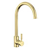 Rangemaster Aquatrend Single Lever Kitchen Mixer Tap - Brushed Brass profile small image view 1