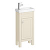 Trafalgar 405mm Cream Cloakroom Vanity Unit profile small image view 1