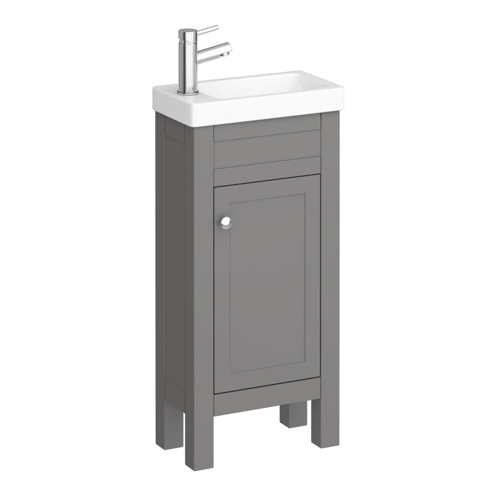 Trafalgar 405mm Grey Cloakroom Vanity Unit