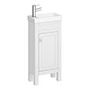 Trafalgar 405mm White Cloakroom Vanity Unit profile small image view 1