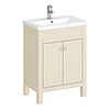 Trafalgar 610mm Cream Vanity Unit profile small image view 1