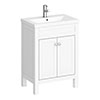 Trafalgar 610mm White Vanity Unit profile small image view 1