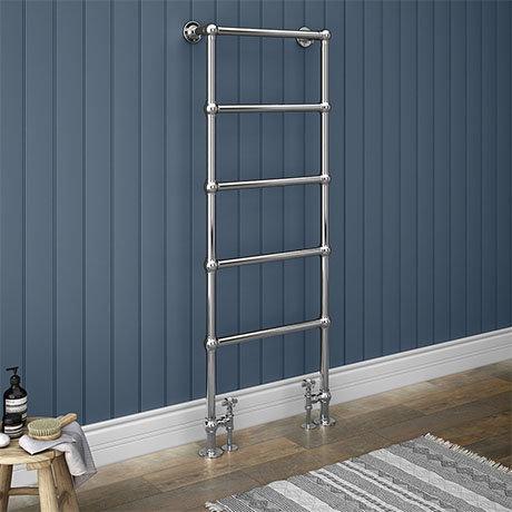 Chatsworth Floor Mounted Towel Rail 1550 x 600mm - Chrome