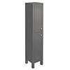Trafalgar 1600mm Grey Tall Floor Standing Cabinet profile small image view 1