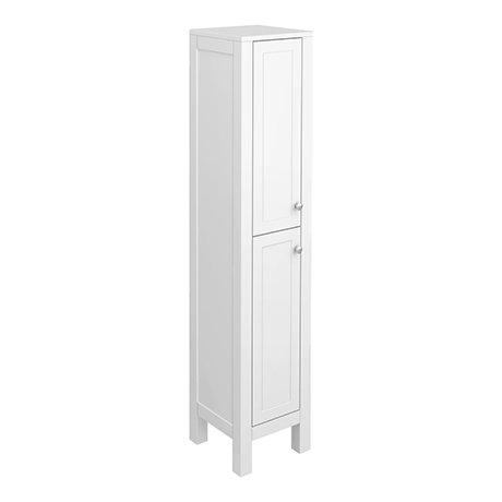 Trafalgar 1600mm White Tall Floor Standing Cabinet