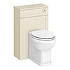 Trafalgar 500mm Cream Toilet Unit and Cistern profile small image view 1
