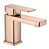 Turin Modern Rose Gold Basin Mono Mixer Tap profile small image view 1