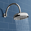 "Belmont 8"" Shower Head with Round Curved Shower Arm profile small image view 1"
