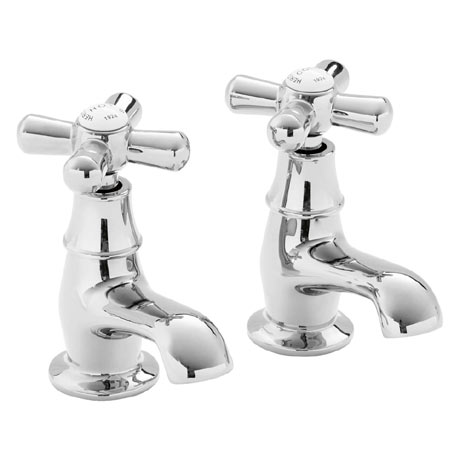 Heritage - Ryde Basin Pillar Taps - Chrome - TRHC00
