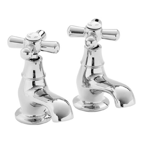Heritage - Ryde Bath Pillar Taps - Chrome - TRHC01