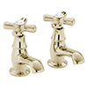 Heritage - Ryde Basin Pillar Taps - Vintage Gold - TRHG00 Medium Image