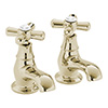 Heritage - Ryde Bath Pillar Taps - Vintage Gold - TRHG01 Medium Image