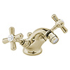 Heritage - Ryde Bidet Mixer with Pop-up Waste - Vintage Gold - TRHG05 profile small image view 1