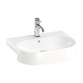 Britton Bathrooms Trim 500mm 1TH Semi-Recessed Basin