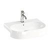 Britton Bathrooms Trim 500mm 1TH Semi-Recessed Basin profile small image view 1