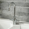 Trafalgar Polished Chrome Dual Lever Kitchen Mixer Tap profile small image view 1