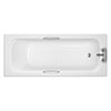 Trojan Granada II 2TH Acrylic Anti-Slip Bath with Twin Grip profile small image view 1