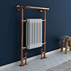 Savoy Rose Gold Traditional Heated Towel Rail Radiator profile small image view 1